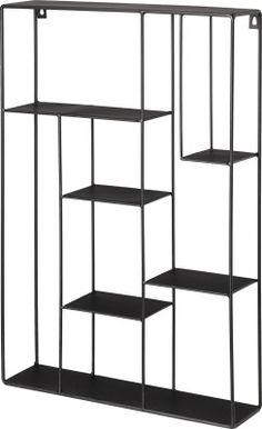 Anttila - ANNO Metallihylly 40x10x60 musta   Koristelu