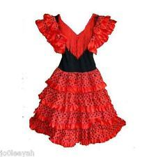 Yoremy child's red and black polka dot flamenco dress Size 6 NWT