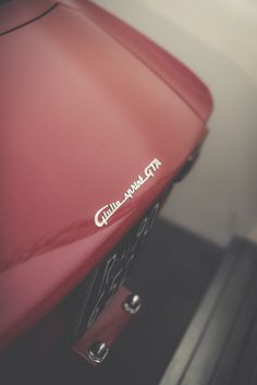 "steffi-historical-photography:""The beautiful handwriting lettering of the wonderful Giulia GTA Alfa Romeo Gtv 2000, Alfa Romeo Cars, Alfa Bertone, Alfa Gta, Old Sports Cars, Sport Cars, Royce Car, Small Luxury Cars, Alfa Romeo Giulia"