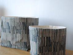Indigo Storage Bins via Carol Cornforth