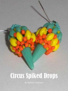 Circus spiked drops - get the pattern in our latest issue: http://www.joomag.com/magazine/digital-beading-magazine-issue-9-april-2014/0519819001398074185