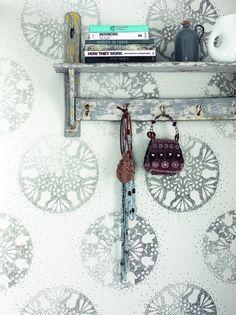 Behang wit zilver cirkel Feel Good - BN Wallcoverings