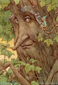 Mr. Browbark Tree Ent Greeting Card by brownieman on Etsy, $2.75