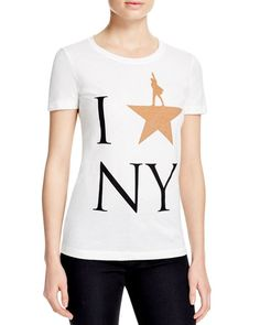 Hamilton I Star NY Tee - Some would argue that stars last longer than love. If that's the case, then this Hamilton logo tee is a proper homage to the big city that so many call home--including the NYC-based musical itself.