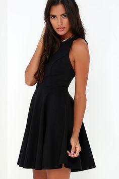 Stylish Ways Black Skater Dress at Lulus.com!
