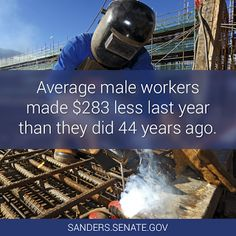 Average male workers earned $283 less than they did FOURTY-FOUR YEARS ago. How's that trickle down economy working for ya??