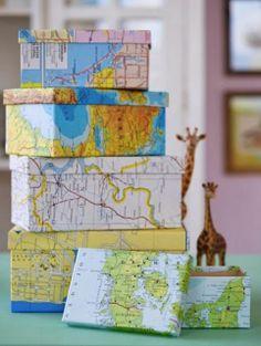 RECICLANDO CAIXAS com mapas