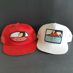 67af73561e6 Boots & Coots Oil Well Fire Fighters & Red Adair Co Trucker Mesh Patch Hats  Lot