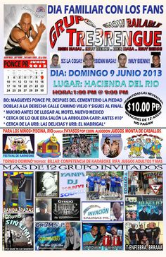 Día Familiar con los Fans del Grupo Tre3Rengue @ Hacienda del Río, Barrio Magueyes, Ponce