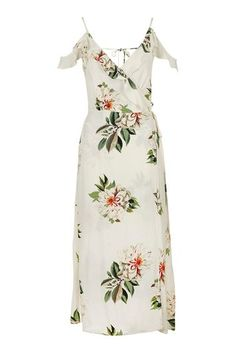 Vicky wears Floral Maxi Dress from Topshop White Ruffle Dress, White Wrap Dress, White Floral Dress, Wrap Dress Floral, Maxi Wrap Dress, Wrap Dresses, Maxi Dresses, White Maxi, Bride Dresses