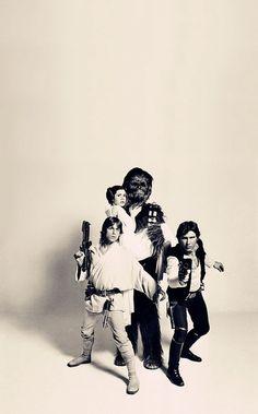 Star Wars - Luke Skywalker, Han Solo, Chewbecca, and Princess Leia