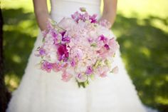 Pink & Purple bridal bouquet
