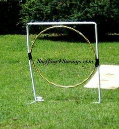Of course! A hoopla hoop!  Backyard Puppy Agility Course DIY