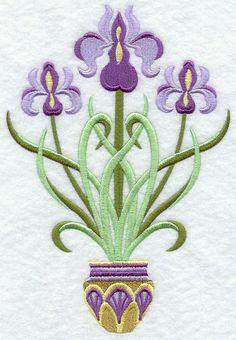 Art Deco Irises