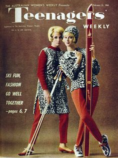Ski fashions for Teenagers' Weekly, 1962.