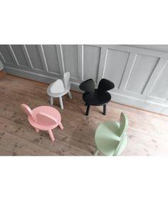 Dizajnová detská drevená stolička MOUSE CHAIR, NOFRED, čierna