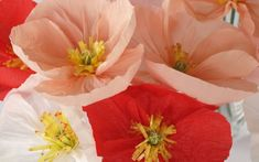 Paper Poppies Hand-made to Order.