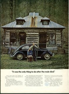 Brilliant true story testimonial ad from 1971. | All The Great Mad Men Era Volkswagen Ads