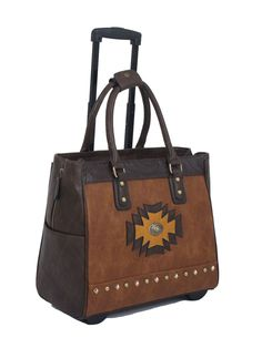 "ARRIVING SOON -- The ""SANTA FE"" Rolling iPad, Tablet or Laptop Tote Briefcase or Carryall Bag"