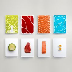 Slice Cutting Board Set - I would hang it as wall art pieces in my kitchen Graphisches Design, Brand Design, Food Design, Layout Design, Food Graphic Design, Cut Out Design, Typographie Fonts, Diy Cutting Board, Design Graphique
