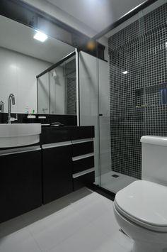 Banheiros Pequenos Preto | homefiresafetykit.com banheiros com pastilhas