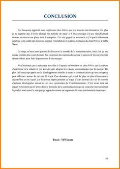 15+ exemple conclusion rapport de stage | ala-ouzarf-hadjret-ennous | stage | Exemple de rapport ...