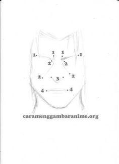 How to draw itachi uchiha face, step 3