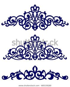 Find Islamic Art Borders stock images in HD and millions of other royalty-free stock photos, illustrations and vectors in the Shutterstock collection. Stencil Patterns, Stencil Designs, Pattern Art, Hand Embroidery Designs, Beaded Embroidery, Embroidery Patterns, Motifs Islamiques, Islamic Art Pattern, Wood Carving Designs
