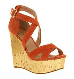 Office WILD WEST WEDGE CORAL SD\ GOLD Shoes - Womens High Heels Shoes - Office Shoes