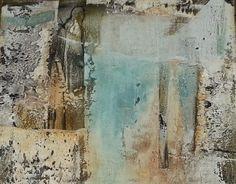 """""""Lichtgang"""" Sand, Gips- und Marmormehlstruktur, Pigmente und Eitempera auf Keilrahmen 80 x 100 cm"""