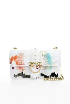 06928e963c46 Sac bandoulière femme PINKO Special Edition peint à la main - Pinko