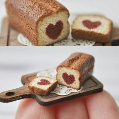 Cute heart bread mini
