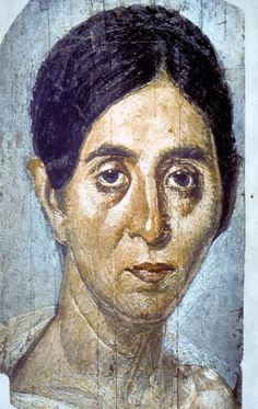 Fayum mummy portrait... or a Sunday morning after a rager