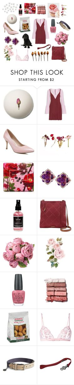"""""""Roses and Puppy Kisses"""" by megancvms ❤ liked on Polyvore featuring Marni, WALL, Jo Malone, Effy Jewelry, Little Barn Apothecary, Vera Bradley, OPI, Bobbi Brown Cosmetics, La Perla and Mungo & Maud"""