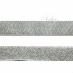 Velcro para coser de color gris claro