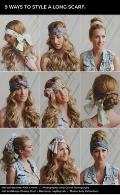 How to style a long scarf in your hair.