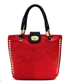 This Red Lizbeth Tote by d'Orcia is perfect! #zulilyfinds
