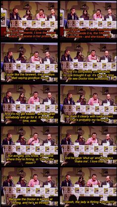 Their Favorite River Song moments...actually those three are my favorites too.