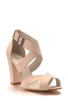 c047402086e Shoes of Prey Crisscross Strap Block Heel Sandal (Women) available at   Nordstrom Wide