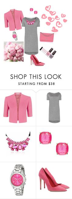 """Grey and pink"" by kassya27 ❤ liked on Polyvore featuring Fenn Wright Manson, T By Alexander Wang, Kate Spade, Akribos XXIV, Dee Keller and Chanel"