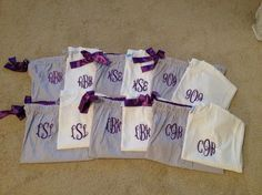 Monogram Seersucker Pajama Set, Group Order 6+ Sets, Free Shipping, New Colors! by ASouthernWhimsy on Etsy
