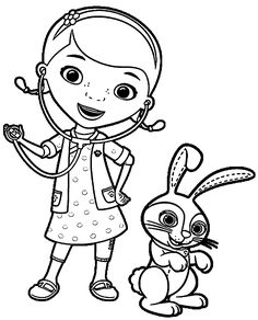 Doc McStuffins friends coloring pages for kids, printable