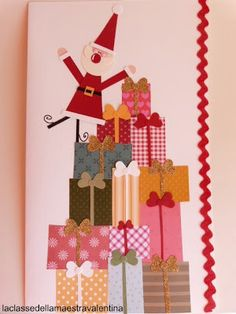 Paper Christmas Decorations, Christmas Arts And Crafts, Christmas Gift Bags, Christmas Mood, Thanksgiving Crafts, Xmas Crafts, Art Lessons For Kids, Art For Kids, Crafts For Kids