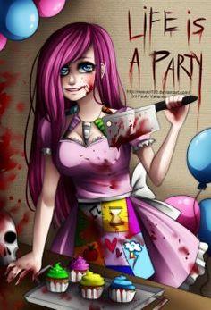Image about party in Creepypastas by Lena on We Heart It Mlp My Little Pony, My Little Pony Friendship, Universidad Ideas, Mlp Creepypasta, Pink Pie, Creepy Pasta Family, Fanart, Little Poney, Jeff The Killer
