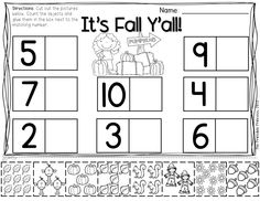 Tons of fall math and literacy centers for Kinders. Includes additional print and go activities for extra practice!