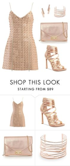 """""""Rose Gold Lover Cocktail Party Set (#73)"""" by nazanin-mk ❤ liked on Polyvore featuring David Koma, Jessica Simpson, Loeffler Randall, Alexis Bittar and ZoÃ« Chicco"""