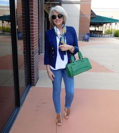 Fifty, not Frumpy: Aging Gracefully; advance style, fashion for women of any age; i love the color combination here!