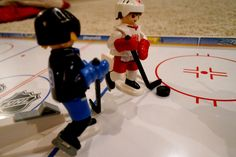 Skate into action with your own hockey match at the @Playmobil NHL Hockey Arena.  Each of the four NHL players feature a movable arm and hockey stick for even more realistic game play. #Playmobil