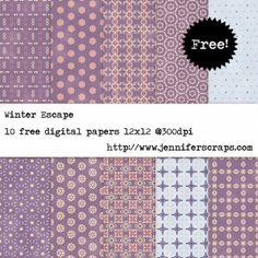 Winter Escape - Free Digital Paper Pack