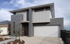 Laguna, New Home Images, Modern House Images - Metricon Homes - Sydney, NSW Modern Brick House, Modern House Facades, Modern House Design, Home Building Design, Building Facade, Building A House, Building Exterior, House Exterior Color Schemes, Exterior Colors